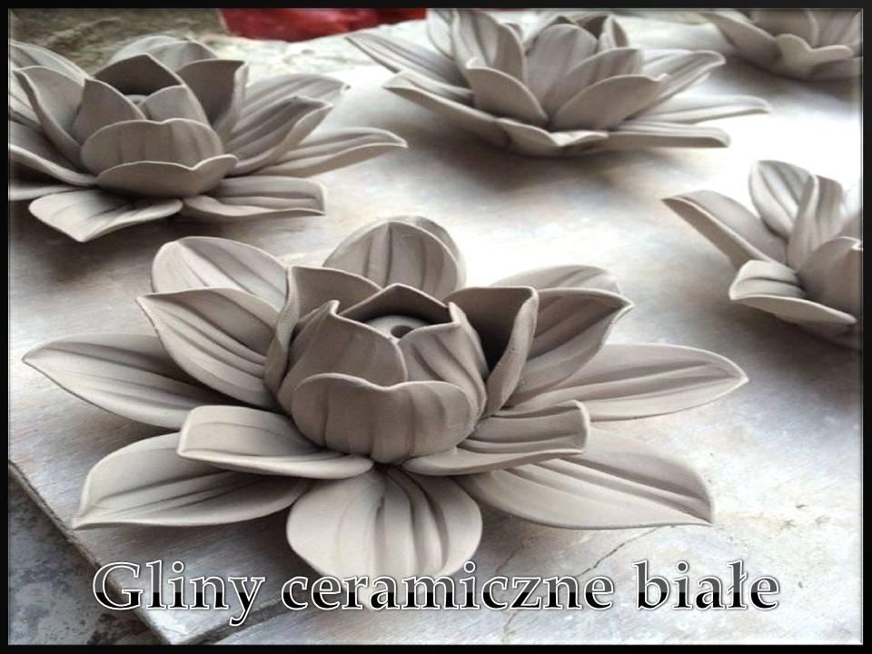 Gliny ceramiczne białe